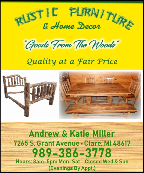 rustic log furniture, livingston county, mi
