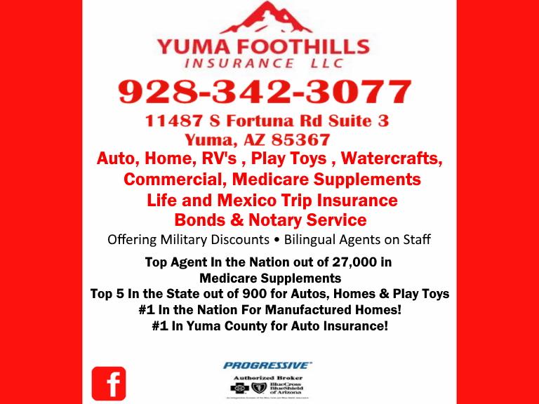 yuma foothills insurance, yuma county, az