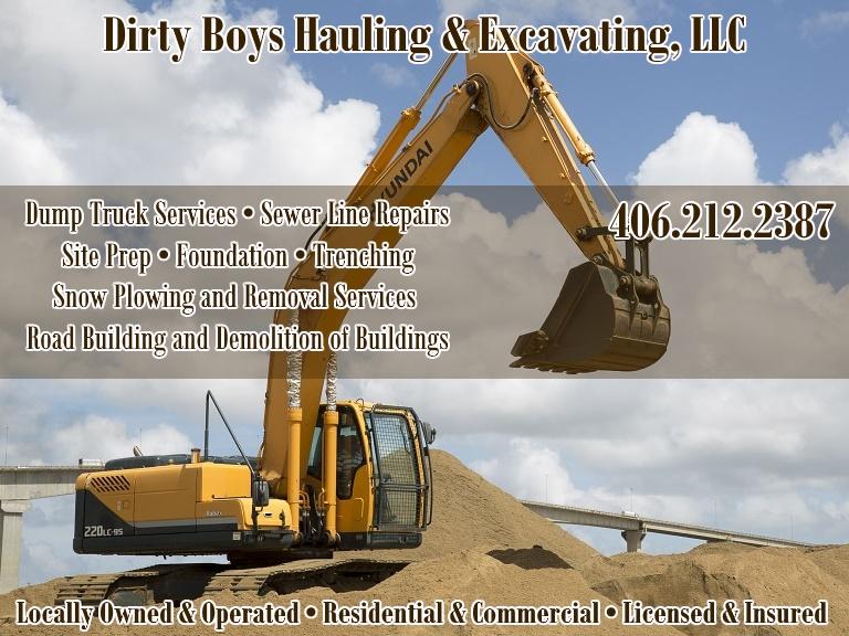 dirty boys hauling & excavating, flathead county, mt