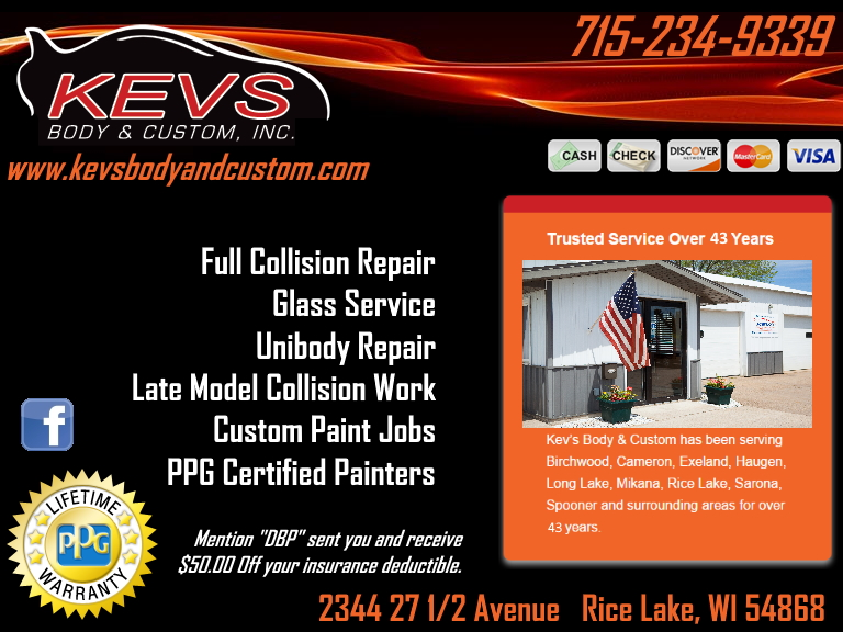 kevs body & custom, barron county, wi