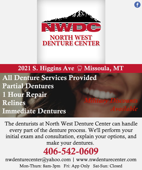 north west denture center, milloula county, mt