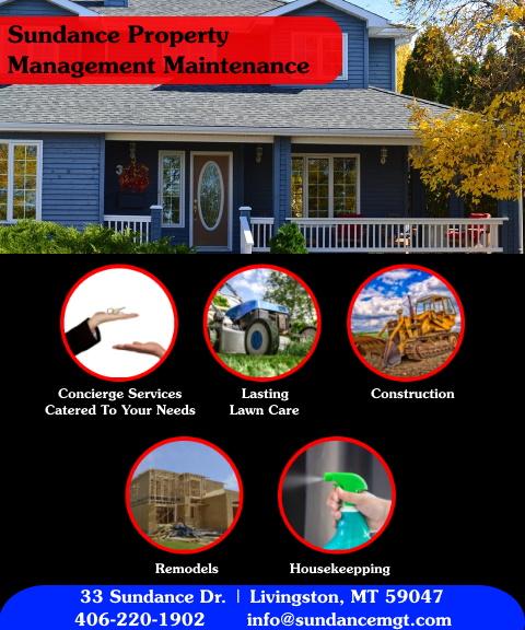 sundance property management, park county, mt