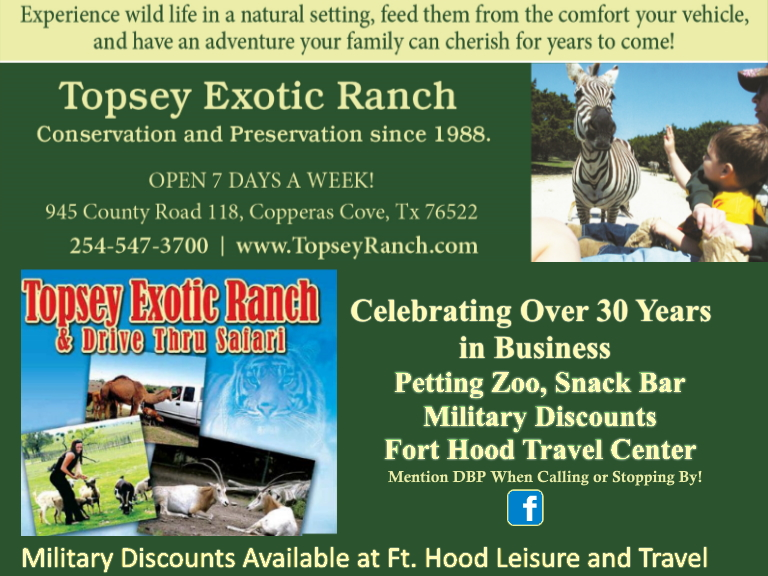 topsey exotic ranch, bell county, tx