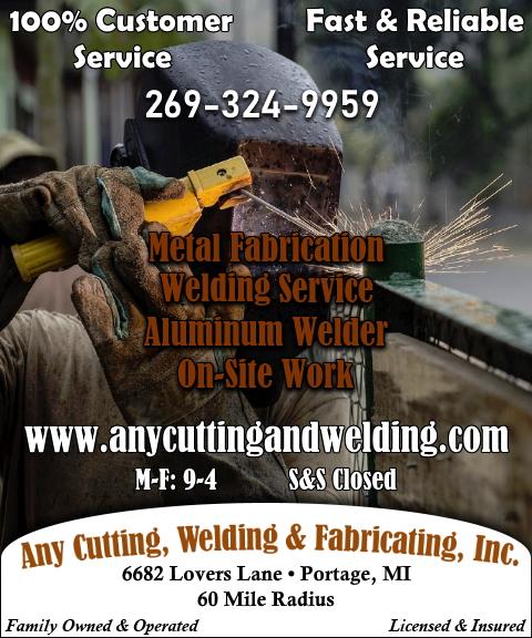 any cutting welding fabricating inc, kalamazoo county, mi