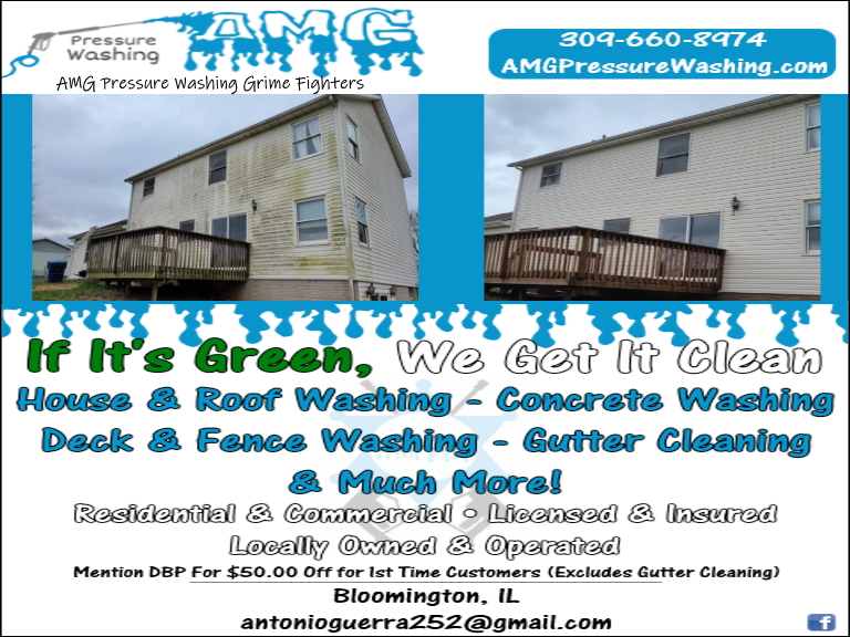 amg pressure washing, mclean county, il