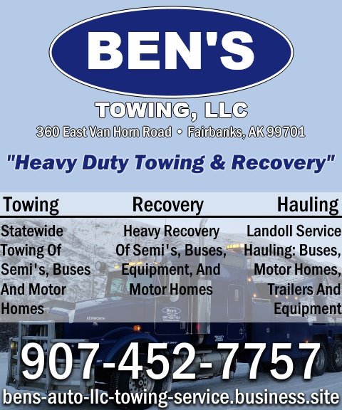 bens towing, fairbanks north star borough county, ak