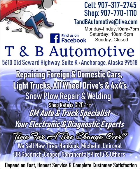 t & b automotive, anchorage, ak