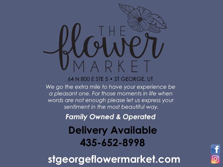 the flower market, washington county, ut