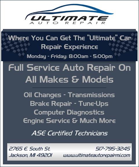 ultimate auto repair, jackson county mi
