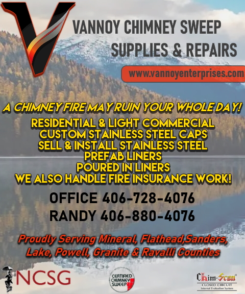 vannoy chimney sweep and supplies, missoula county, mt