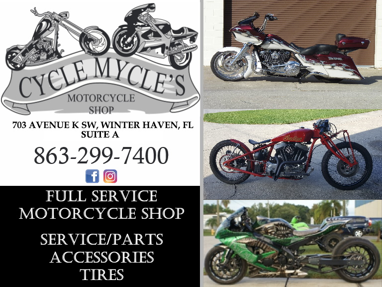 cycle mycles motorcycle shop, polk county, fl
