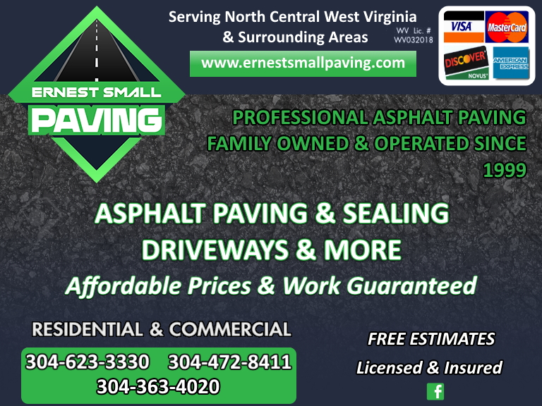 ernest small paving, upshur county, wv