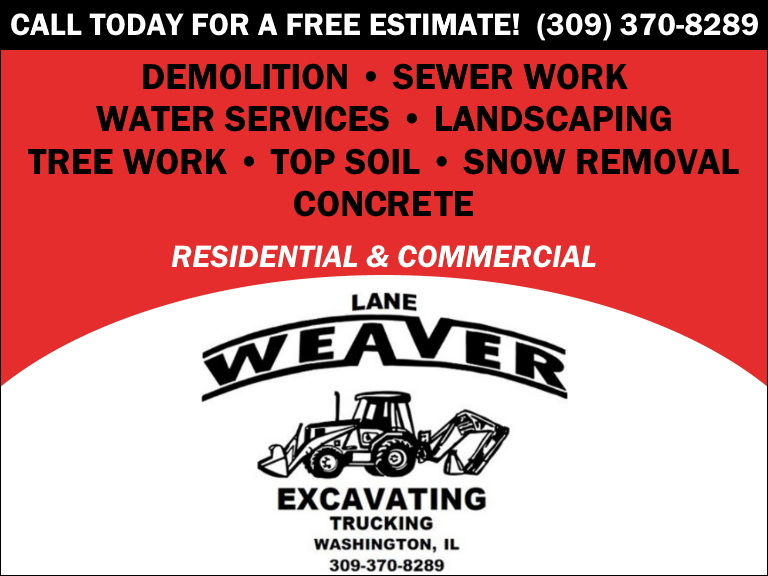 lane weaver excavating, tazewell county, il