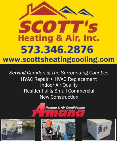 scotts heating and air conditioning, camden county, mo