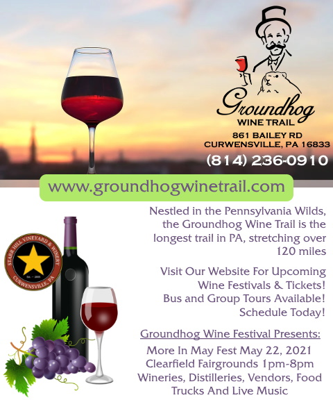 groundhog wine trail, clearfield county, pa