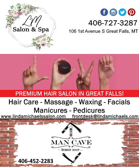linda michaels salon and spa, cascade county, mt