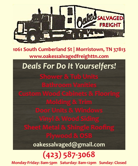 oakes salvaged freight, jefferson county, tn