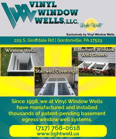 vinyl window wells, lancaster county, pa