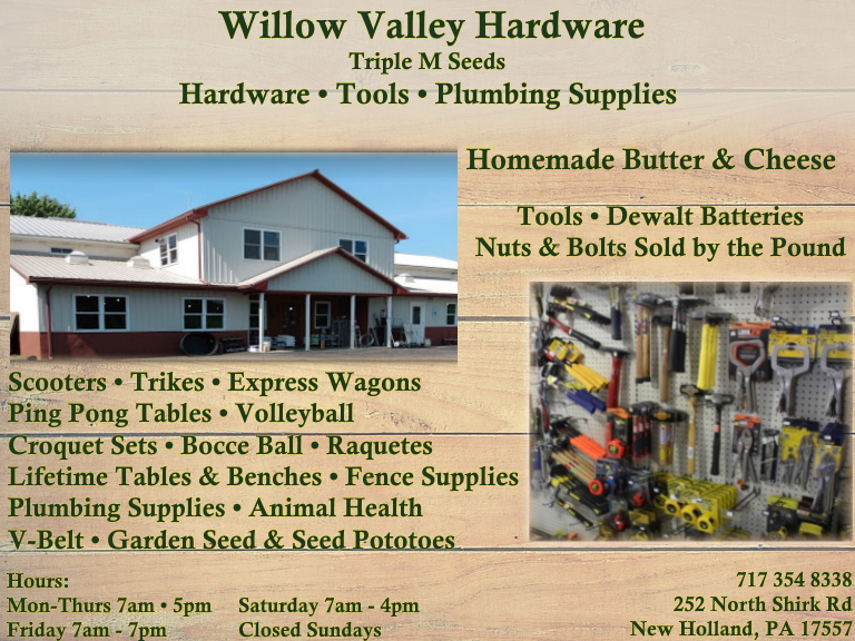 willow valley hardware, lancaster, county, pa