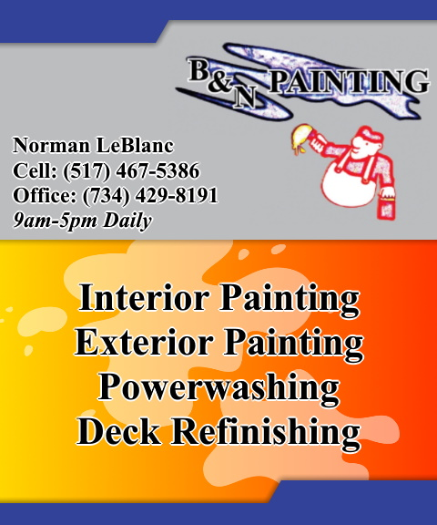 b and n painting, lenawee county, mi