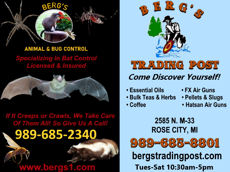 bergs animal control and trading post, ogemaw county, mi