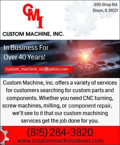 custom machine, lee county, il
