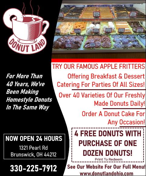 donut land, medina county, oh