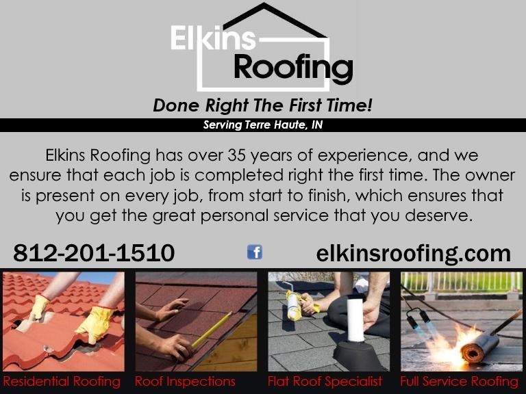 elkins roofing, vigo county, in