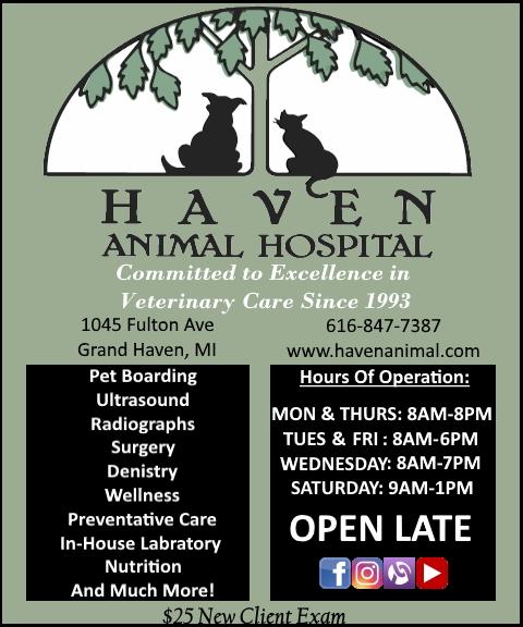 haven animal hospital, ottawa county, mi