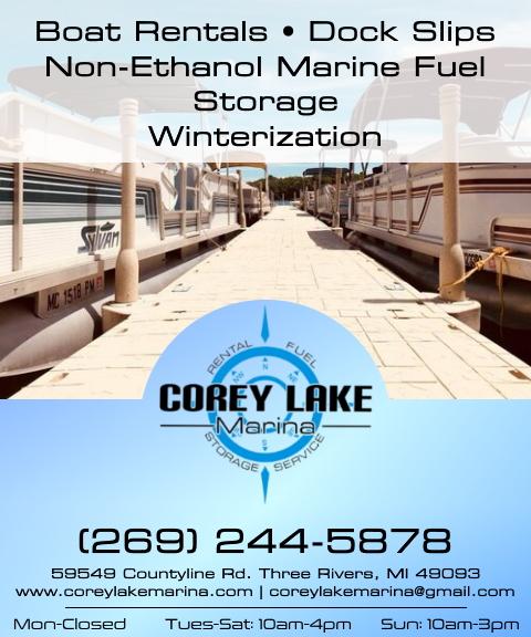 corey lake marina, st joseph county, mi
