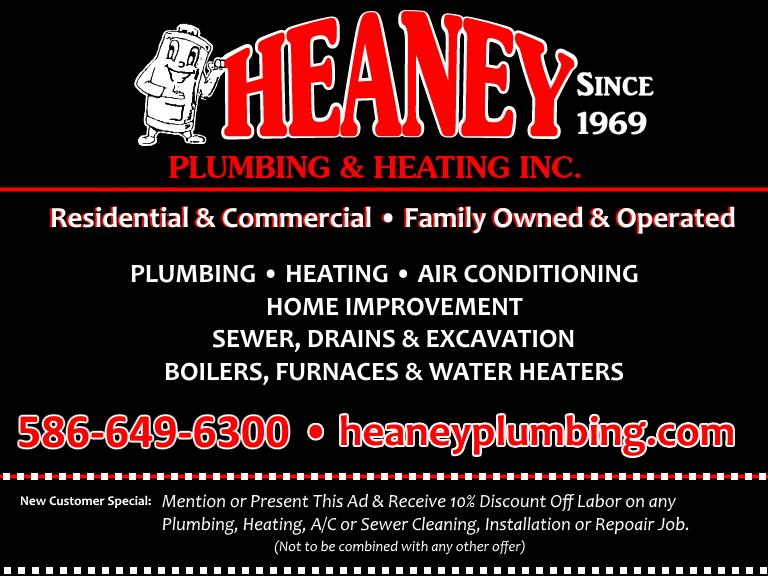 heaney plumbing and heating, wayne county, mi