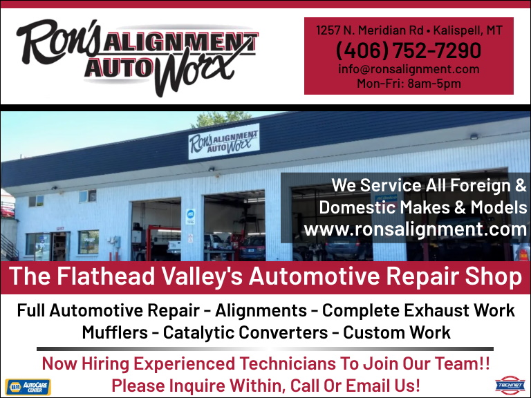 rons alignment and auto worx, flathead county, mt