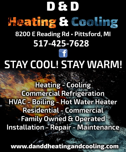 d & d heating and cooling, hillsdale county mi