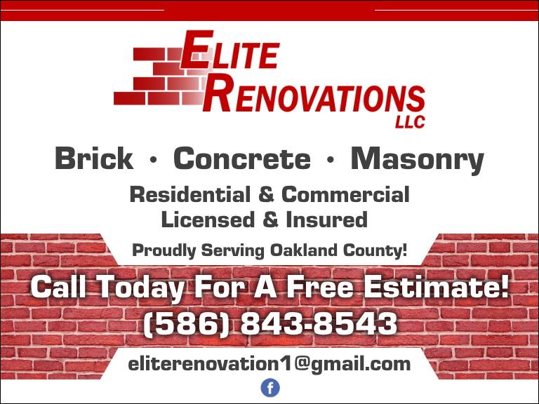elite renovations, oakland county, mi