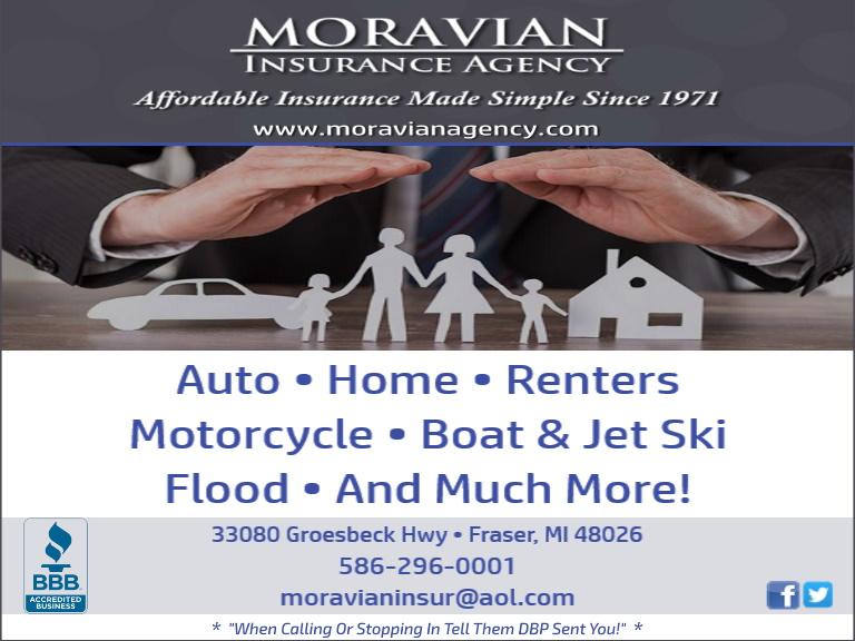 moravian insurance, macomb county, mi