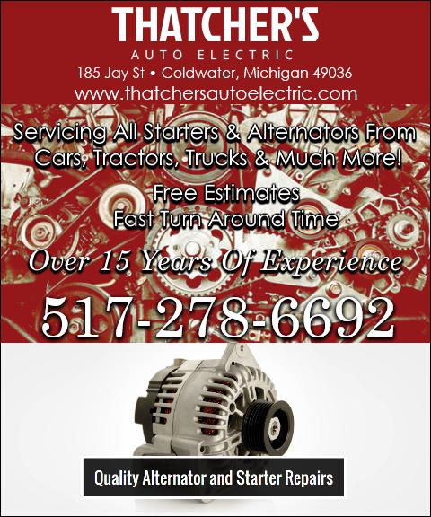 thatchers auto electric, branch county, mi
