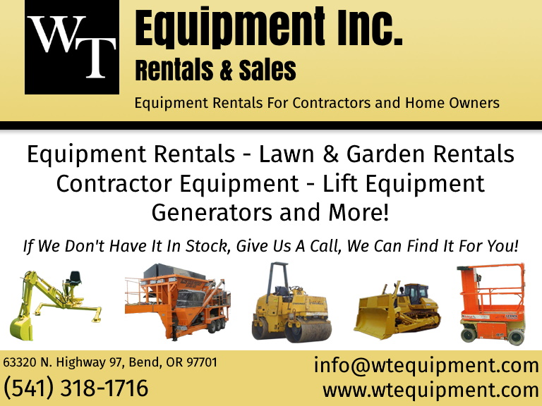 wt equipment, deshutes county, or