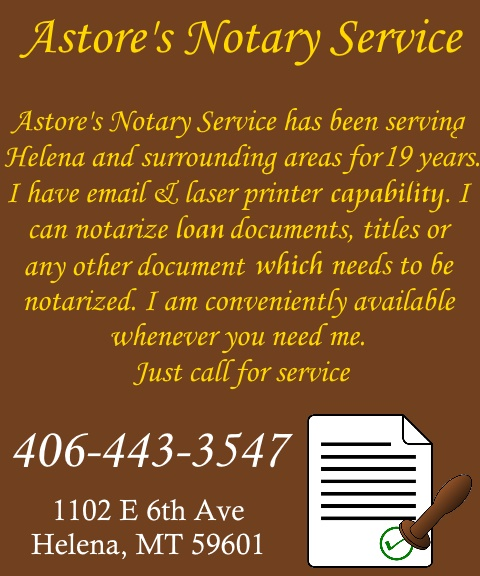 astore notary service, lewis & clark county, mt