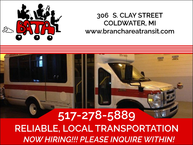 branch area transit authority, branch county, mi