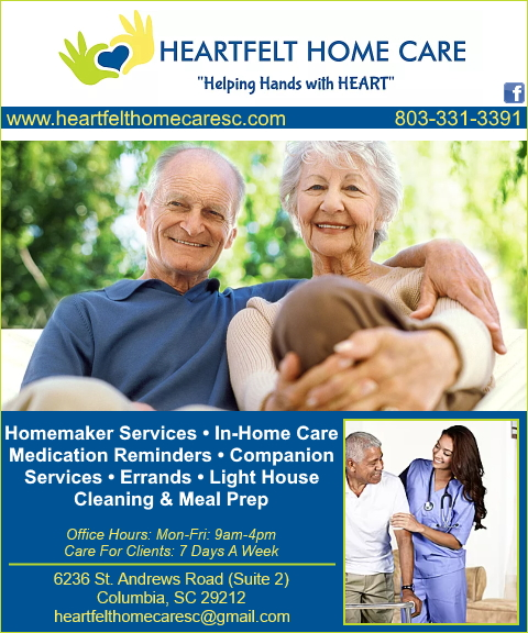 heartfelt home care, lexington county, sc