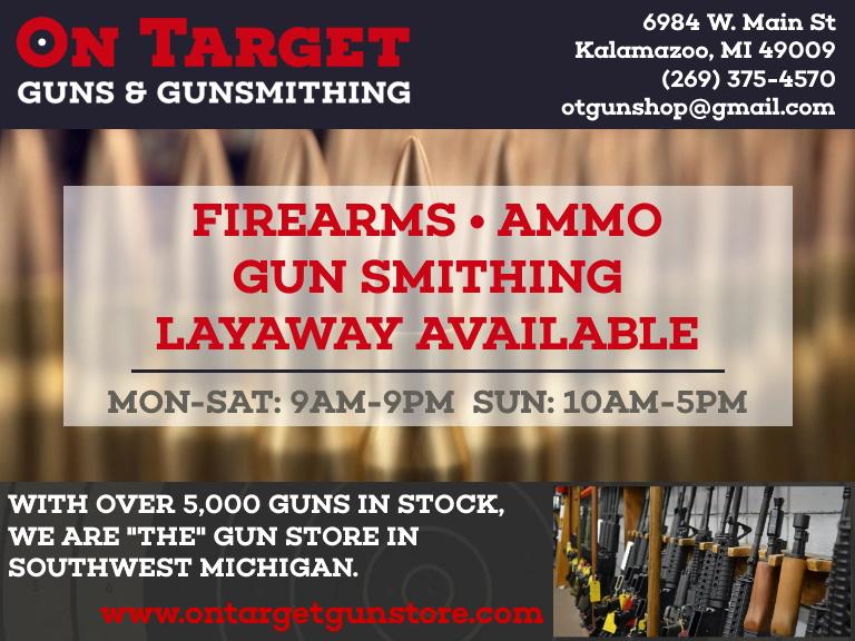 on target gun and gunsmithing, kalamazoo county, mi