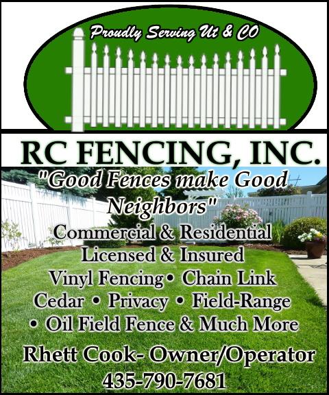 rc fencing, uintah county, ut