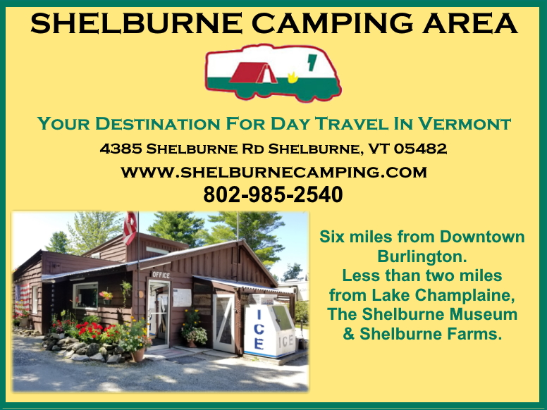 shelburne camping area, chittenden county, vt
