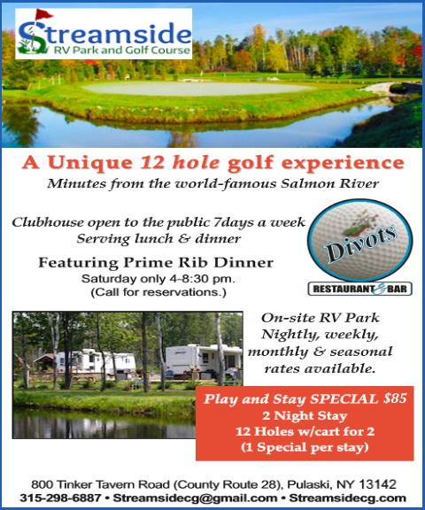streamside rv park and golf course, oswego county, ny